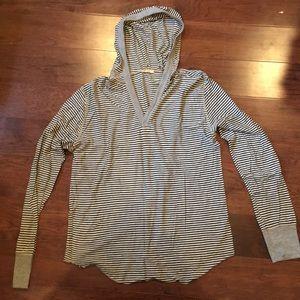 Men's Alternative brand long sleeve v neck hoodie